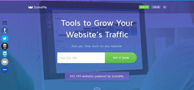 SumoMe-最好的網站流量工具