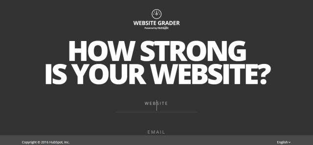 Website Grader-測試網站性能